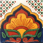 #C014 TILE MEXICAN HAND MADE HAND PAINTED TALAVERA TILES WALL OR FLOOR USE DECOR
