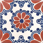 #C002 TILE MEXICAN HAND MADE HAND PAINTED TALAVERA TILES WALL OR FLOOR USE DECOR
