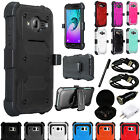 For Samsung Galaxy - Rugged Hybrid Phone Case w/ Screen & Clip Holster + EXTRAS