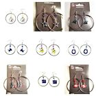 "NFL EARRINGS TEAM 2"" HOOP COLOR BEAD DANGLE STYLE WITH HOOP YOU PICK THE TEAMS on eBay"