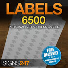 6500no. PRINTED ADDRESS LABELS Self Adhesive Return Address PERSONALISED LABELS