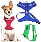 Внешний вид - SERVICE DOG Vest Harness Non Pull Front Back Ring Padded Waterproof Adjustable
