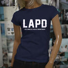 Proud Blue LAPD Los Angeles Police Department Womens Navy T-Shirt