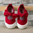 NEW Fashion Baby Toddler's GIRLS Red Bow Sports Casual Canvas Shoes