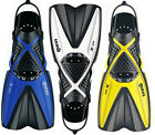 NEW Mares X-one Short Lightweight  Performance Snorkel Fins - Perfect for Travel
