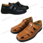 Mens Dress Sandals Closed Toe Straps Huaraches Fisherman Slip on Casual Shoes