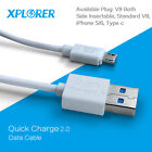 Xplorer QC2.0 quick charge data cable sellpone cable for iPhone/Samsung/type-c