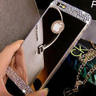 Luxury Bling Crystal Diamond TPU Mirror Back Case Cover For iPhone 7 Plus 6 6s