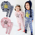 "Vaenait Baby Toddler Kids Boys Girls Clothes Sleepwear Pajama Set ""Bling"" 12M-7T"