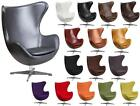 Leather or Wool Retro Egg Chair with Tilt-Lock Mechanism