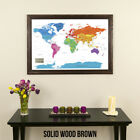 Colorful World - Travel Map with Pins - Map Your Travels - Kids' Room Idea