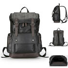 Men's Faux Leather Backpack Rucksack Laptop bag College School Book bag Daypack