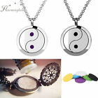 Chinese Yin and Yang Pendant Necklace Charm for DIY Essential Oils Perfume 6Pads