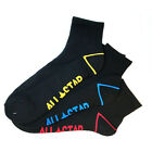 CONVERSE NEW Men's Quarter Length 3 Pack Socks Black BNWT