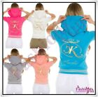 Sexy Ladies Hoodie Top Women's Summer Sweatshirt Everyday Jacket Size 8,10,12 UK