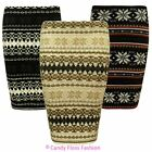 Womens Fairisle Mini Knited Stretch Pencil Snowflake Bodycon Ladies Skirt Dress