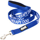 THERAPY DOG Leash Color Coded Blue Pet Puppy Assistance Aid Heavy Duty Nylon New