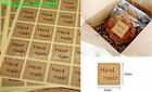 Lowest Price Hand Made Kraft Stickers Seals Label for Gift Box Craft Baking DIY <br/> Handmade Sealing Sticker Multiple color and design