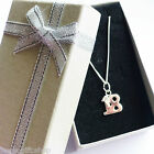21st birthday pendant necklace sterling silver in gift box or pouch or 16th 18th