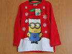 So Cute Girls Red Long Sleeve Minion / Despicable Me Red Christmas Top