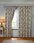 STYLISH PENCIL PLEAT TAPE TOP FLORAL PATTERN BLACKOUT LEMON YELLOW NEW CURTAINS