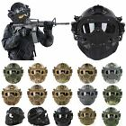 Tactical Protective Helmet Full Face Mask Googles G4 System Airsoft Paintball
