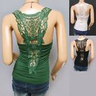 Gorgeous Floral Embroidery Back Camisole Tank Top