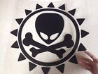 5 colors Large Alien Bone Door Engine Hood Spare Tire Cover Decals Car Stickers
