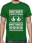 Merry Christmas Bastards Humping Reindeer Funny Ugly Christmas T-Shirt Gift