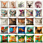 18x18Cute Animal Print Cotton Linen Pillow Case Cushion Cover Fashion Home Decor