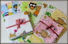 Set 3 to 10 Decorative Printed Flannel diaper muslins square bibs Reusable Nappy