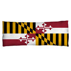 Maryland Flag Body Pillow
