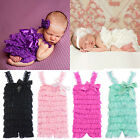 Girls' Bowknot Lace Ruffle Petti Toddler Baby Sling Romper Jumpsuit Natural