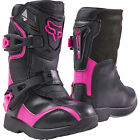 NEW 2018 FOX RACING COMP 5K KIDS PEE WEE MX OFFROAD BOOTS BLACK/PINK GIRLS