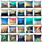 "18""Beautiful Scenery Cotton Linen Pillow Case Cushion Cover Fashion Home Decor"