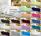 "Percale Extra Deep 12""(30Cm) Fitted Sheet OR Pillow Cases All Sizes Available"