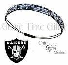 Oakland Raiders Team Color Womens Rhinestone Bling Headband Wear w/ Jersey NWT