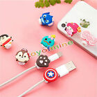 2pcs Cartoon Shape USB Data Charger Cable Saver Protector for iPhone SE 5s 6 6s