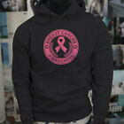 BREAST CANCER RIBBON  PINK AWARENESS STRONG WOMEN Mens Black Hoodie