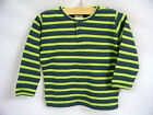 NWT Jaxxwear Infant Boy Long Sleeve Shirt -Forest Stripes Size 12 Mo 100% Cotton