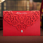 Red Laser Cut Luxury Wedding Invitation Cards Party Free Personalized Envelopes