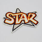 """STAR"" letter Embroidery Iron on patch sewn For clothing applique backpack Motif"
