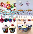PACK OF 12 CUPCAKE LINERS WRAPPERS & CAKE TOPPERS WEDDING BIRTHDAY PARTY DECOR