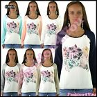 Women's Blouse Ladies Summer Floral Blouse Casual Flowers Top Size 8/10,12/14 UK