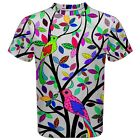New Colorfull Tree Sublimated Men's Sport Mesh T-Shirt size XS-3XL Free Shipping