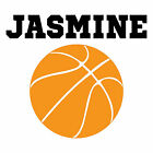 BASKETBALL BALL COACH NAME Vinyl Decal Sticker for YETI RTIC CORKCICLE LAPTOP