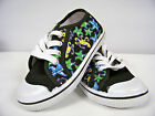 New Girls Canvas Low -Top Athletic Shoe  ( Black- Sealife ) Youth  Sizes 13 - 4