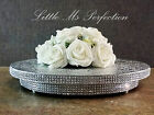 "SILVER GOLD DIAMANTE CRYSTAL EFFECT  WEDDING CAKE STAND ROUND SQUARE 10""- 22"""