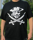 Anonymous Pirate mask Guy Fawkes Hackers T shirt Computer hacker Protest