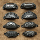 ANTIQUE CAST IRON CABINET CUP PULL HANDLES DOOR CUPBOARD KITCHEN VICTORIAN STYLE